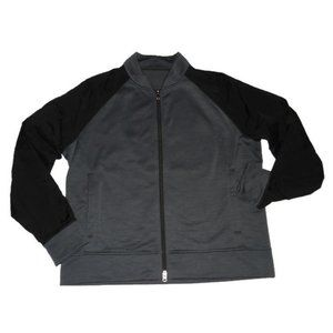 Lululemon Revolution Bomber Jacket Gray Black XXL